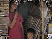 Family on the island of Masbate in the Phillipines