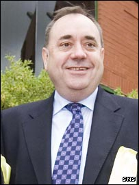 Scotland's new first minister Alex Salmond