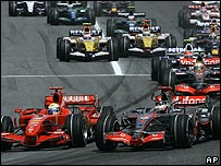 The start of the Spanish Grand Prix
