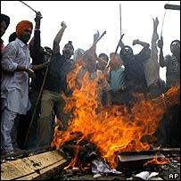 Sikhs protesting in Punjab