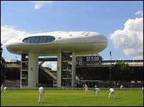 The media centre and Nursery Ground at Lord's