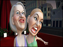 Animated versions of Helen Mirren and Kate Winslet