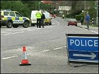 Bere Regis scene of crash