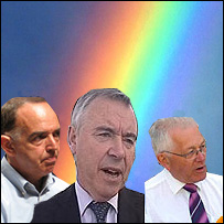 Party leaders Nick Bourne, Ieuan Wyn Jones and Mike German