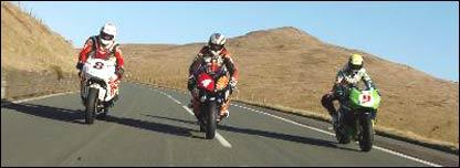 Three riders on the course (Picture: Stephen Davison/TT)