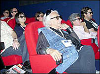 Viewers watching the film