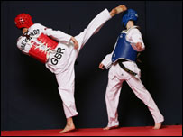 Taekwondo Team GB in action