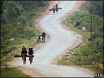 Road in Vietnam - 2005 photo