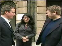 David Cameron, Tia MacGregor, Paul Sargent