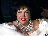 Dame Elizabeth Taylor at her 75th birthday party