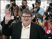 Michael Moore at the Cannes Film Festival