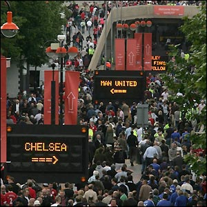 Fans arrive at Wembley
