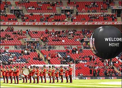 A marching band at Wembley