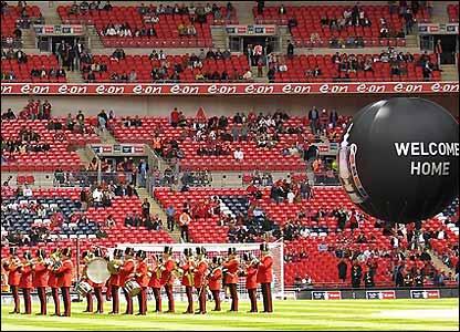A marching band at Wembley