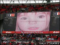 Madeleine McCann appeal at Wembley