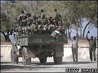 Ethiopian troops leave Mogadishu, Somalia - 21/03/2007