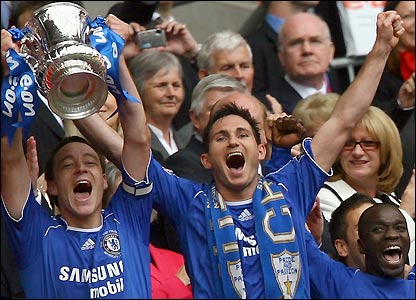 John Terry lifts the FA Cup