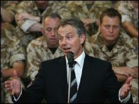 Tony Blair in Basra