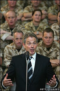 Blair in Basra