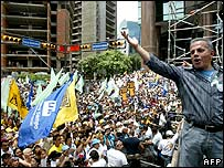 Marchers in Caracas