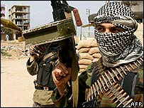 Luchadores de Fatah en Nahr el-Bared (foto de archivo)