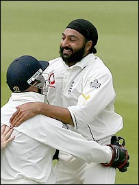 Monty Panesar was again England's likeliest source of a wicket