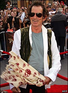 Keith Richards at premiere of Pirates of the Caribbean: At World's End