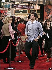 Orlando Bloom at premiere of Pirates of the Caribbean: At World's End