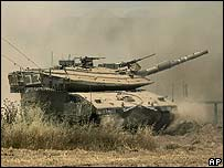 Israeli tank near the Gaza Strip