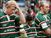 Leicester's Shane Jennings (left) and Ben Kay (right)