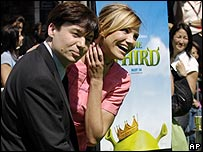 Mike Myers and Cameron Diaz at Shrek the Third premiere