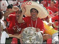 Los mexicanos Ricardo Osorio y Pavel Pardo.