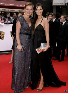 Big Brother host Davina McCall (left) and winner Chantelle Houghton