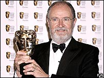 Jim Broadbent with his Bafta Award
