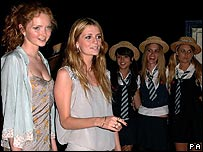 Lily Cole and Mischa Barton at Cannes St Trinian's party