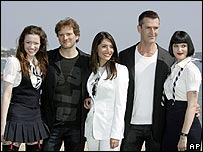 From left: Talulah Riley, Colin Firth, Caterina Murino, Rupert Everett and Gemma Arterton