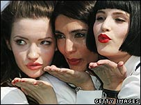 St Trinian's actresses Talulah Riley, Caterina Murino and Gemma Arterton
