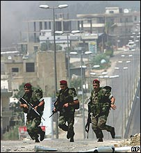 Lebanese troops in Tripoli