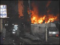 الانفجار في حي الاشرفية ببيروت
