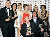 The cast and producers of Casualty