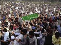 Abdul Ghani Lone's funeral procession