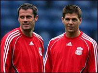 Jamie Carragher (left) and Steven Gerrard