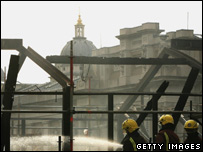 Firefighters at the Cutty Sark