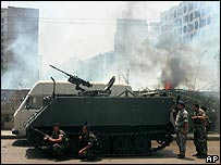 Militares líbaneses se enfrentan a militantes palestinos