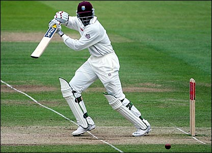 Chris Gayle plays a shot through the off side