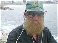Bondi caveman Jhyimy Mhiyles (file)