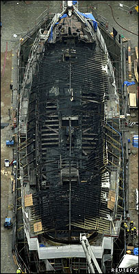Overhead view of the Cutty Sark