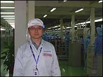 Quality assurance manager Steve Gul at Lenovo's Shanghai plant