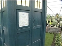 The Tardis in Cardiff council's Chelsea Flower Show entry