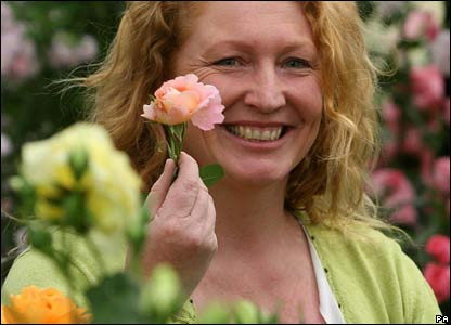 Charlie Dimmock at the Chelsea Flower Show in London